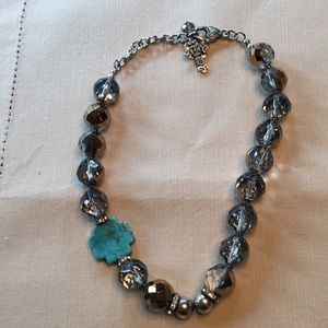 Turquoise with brown stone necklace